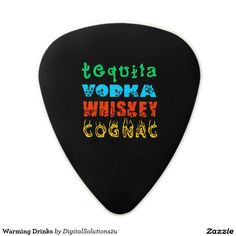 Warming Drinks Polycarbonate Guitar Pick