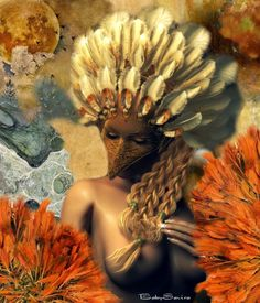 Art Fantasy — Bird Queen ❤ - made by BabySavira Mababe with Bazaart #collage