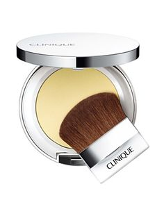 Clinique Redness Solutions Instant Relief Mineral Pressed Powder- Long name for this small compact that helps even out my skin tone, soften my makeup, and get rid of shine. It looks more yellow in person.