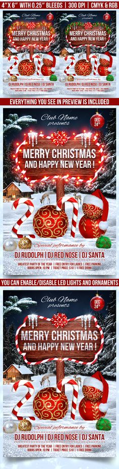 #Christmas and #New Year Party #Flyer - Clubs & Parties Events