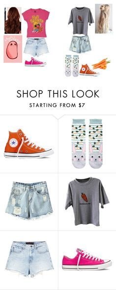 """""""Potato & Carrot"""" by chibiblue ❤ liked on Polyvore featuring Converse, Accessorize, Chicnova Fashion and Alexander Wang"""
