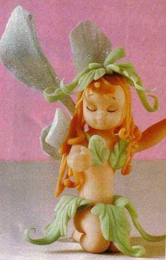 souvenir de hada en porcelana fria | Manualidades