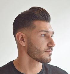 Short Pompadour with a Fade