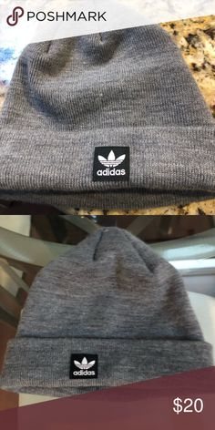 51295789a92 Shop Women s adidas Gray size OS Hats at a discounted price at Poshmark.  Description  Super cute adidas beanie (this is unisex)!