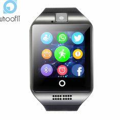 e28c497538e Bluetooth Smart Watch Men Women Sports Q18 Facebook Whatsapp Sync SMS  Smartwatch Support SIM TF Card