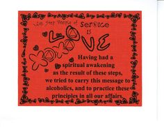 Twelfth step principle of service is Love  by 12StepUnityGal, $5.00