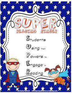Superhero Themed Reading journal cover