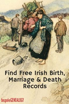 How to Find Free Irish Birth, Marriage and Death Records. This post looks at how you can easily find free Irish vital records online. Free Genealogy Sites, Family Genealogy, Genealogy Forms, Genealogy Search, Genealogy Chart, Free Genealogy Records, Genealogy Humor, My Family History, Women's History