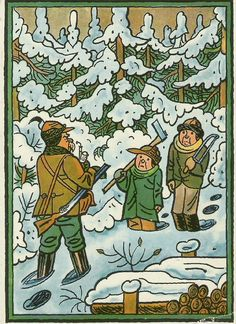 Josef Lada: Za vánočním stromečkem Christmas Illustration, Illustration Art, Illustrations, Art Sketchbook, The Past, Doodles, Sketches, Comics, Retro