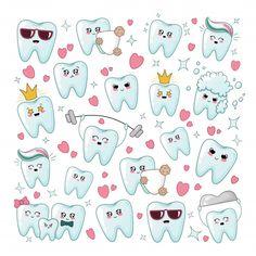 Dentist Cartoon, Dentist Art, Kids Dentist, Dentist Humor, Dental Kids, Dental Care, Tooth Cartoon, Dental Logo, Dental Wallpaper