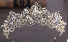 Wedding Headband, Bridal Crown, Bridal Tiara, Tiara Tattoo, Silver Tiara, Crystal Crown, Clear Crystal, Crystal Rhinestone, Gold Crown