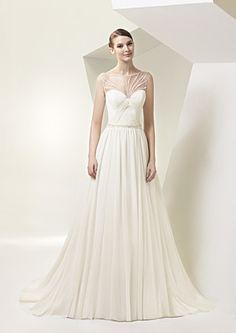 Wedding Dress: Enzoani - www.stylemepretty.com/lookbook/designer/enzoani  View entire slideshow: Illusion Neckline Dresses on http://www.stylemepretty.com/collection/717/