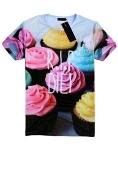 Shop new and gently used OASAP Tee Shirts and save up to at Tradesy, the marketplace that makes designer resale easy. T Shirt Vest, Tee Shirts, Tees, Sweatshirt, T Shirt Picture, Swag, Cream Shorts, Cupcakes, Short Sleeve Tee