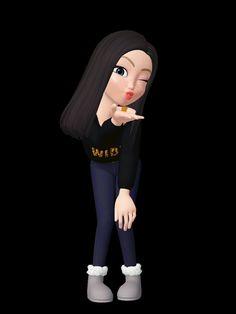 Cartoon Girl Images, Couple Cartoon, Girl Cartoon, Buddha Wallpaper Iphone, Girl Iphone Wallpaper, Cute Love Cartoons, Beautiful Barbie Dolls, Beautiful Butterflies, Cute Dolls