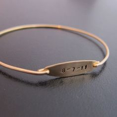 bliss blog - i heart monday.// birthday bangle via frosted willow
