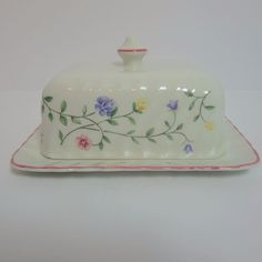 Johnson Brothers Summer Chintz Oblong Covered Butter Dish Made in England & Johnson Brothers Summer Chintz (Made in EnglandEarthenware) at ...