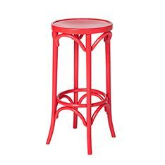 red bentwood stool - Google Search