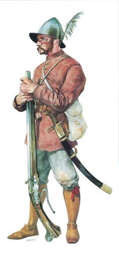 Croatian mercenary infantryman, 1593