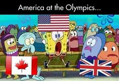 Americans at the olympics - Dump A Day The Meta Picture, Picture Day, Happy 4 Of July, Fourth Of July, Spongebob Shows, Pineapple Under The Sea, Great America, Get Thin, Dump A Day