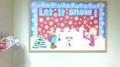 winter bulletin board art created by me!