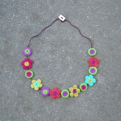 Tia Petite Crochet Beads Choker by gitte on Etsy