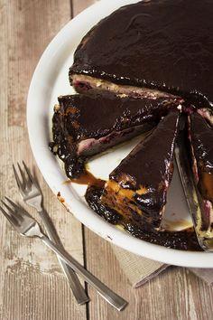 {So ziemlich der beste Cheesecake ever} Mit Himbeeren, Karamell und Schokolade