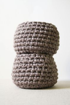 Cobblestone Wool Basket
