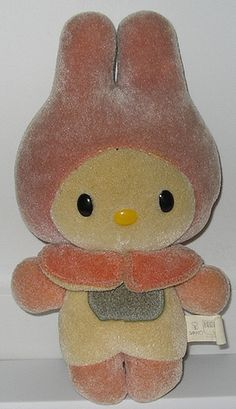 my melody bath toy. she changed colors in water.