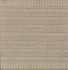 Agnes Martin, Little Sister, 1962. Oil, ink, and brass nails on canvas and wood, 9 7/8 x 9 11/16 inches (25.1 x 24.6 cm)