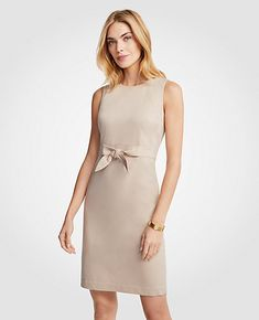 Shop Ann Taylor for effortless style and everyday elegance. Our Cotton Sateen Tie Front Sheath Dress is the perfect piece to add to your closet.