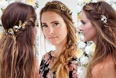 Three Gorgeous Hairstyles for Cool Brides-to-Be:  Shake out the traditional chignon. Toss away the classic veil. These three wedding hairstyles are anything but expected. To celebrate his collaboration with luxury hair-accessory brand Lelet NY, Bumble and Bumble hairstylist Allen Wood created three gorgeous, laid-back styles incorporating a few of his beautiful designs. Here, he shows us how to re-create them at home.   allure.com