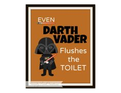 Star Wars Bathroom Prints Set Of 3 Prints By SimplyLoveCreations, $12.00
