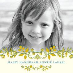 Floral Celebration - Hanukkah Greeting Cards in Vanilla | Hello Little One