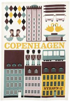 Copenhagen Tea Towel.  @leif has the best selection of tea towels in the universe.