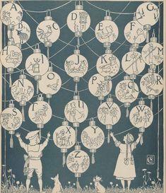 alphabet paper lanterns