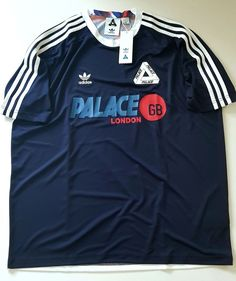 5b3f4296c41 Adidas x Palace Away Jersey T Shirt AZ6596 Blue Men s XL 100% GENUINE   adidas