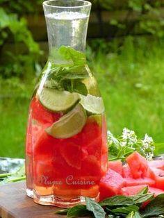 Testé et approuvé : eau pastèque, menthe et citron