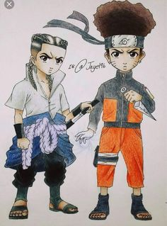 Boondocks Naruto and Sasuke