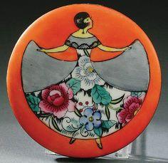 Art Déco - Boite à Poudre - Femme - Noritake - 1925
