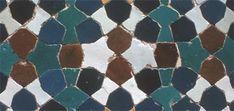 Mosaic tilework, Shiraz, June 1975