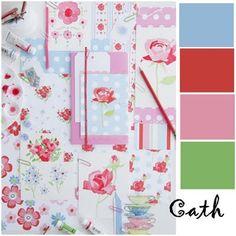 Color inspiration: Cornflower blue, cherry red, carnation pink, grass green