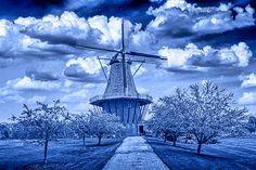 Delft Blue version of the Dutch Windmill the door RandyNyhofPhotos