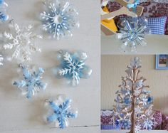 recycle plastic bottles and make christmas decorations