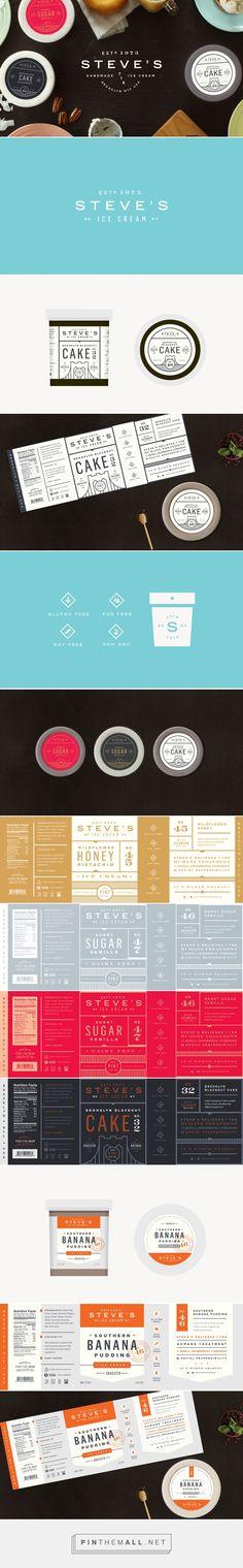 Steve's Ice Cream Brand & Packaging on Behance {cT}