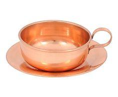 Xícara de Chá com Pires Bartole Cobre