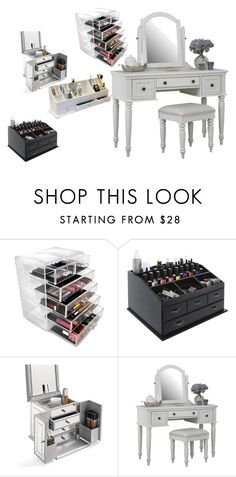 Organizing Contessa's 4 Top Vanity Cases by theorganizingcontessa on Polyvore featuring interior, interiors, interior design, home, home decor, interior decorating, Home Styles, Improvements and Frontgate