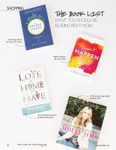 The Book List: What You Should Be Reading Right Now {from Cupcake Mag Spring 2015 Issue!}