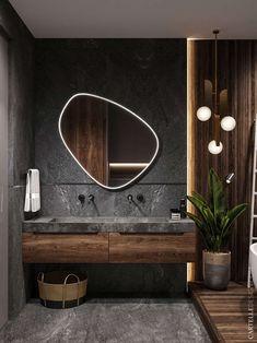 scandinavian interior design Badezimmer Inspiration // Cartelle Design All you need to know about Wh Bathroom Design Luxury, Home Interior Design, Modern Small Bathroom Design, Modern Mirror Design, Modern Luxury Bathroom, Interior Colors, Interior Ideas, Small Luxury Bathrooms, Bistro Interior