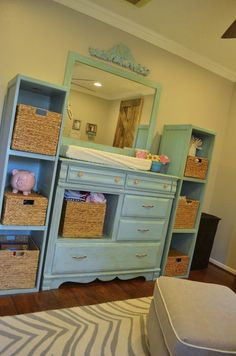 i like the mirror attached to dresser/changing table.