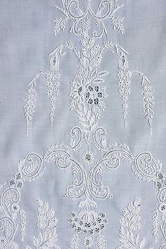 Antique/vintage 19th C Ayreshire whitework baby dress panel - for projects